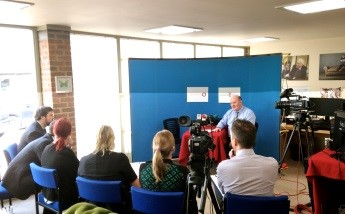 media training class in Yorkshire with Johnathan Boddy